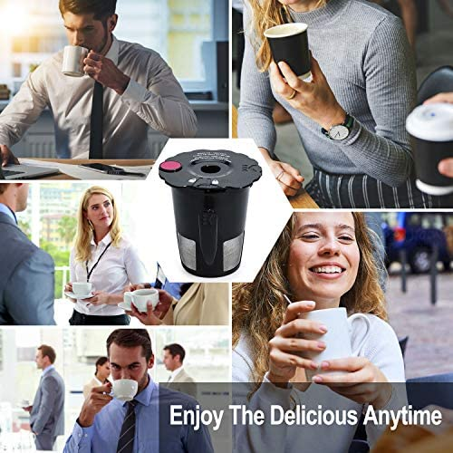 My Okay Cup Replacement Part 119367 Black Reusable Coffee Filters for Keurig 2.0 K200 K250 K300 K350 K400 K450 K460 K475 K500 K550 K560 K575 Brewers Pack of two with Cleaning Brush