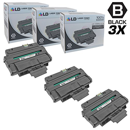 Compatible Replacements for Xerox 106R01374 3PK HY Black Las