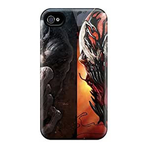 Hard Protect Phone Cases For Apple Iphone 4/4s (mxW1517MPyS) Allow Personal Design Trendy Venom Vs Carnage Skin
