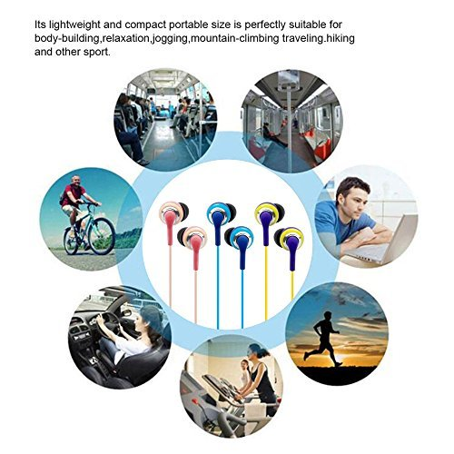 Wired Earbuds With Microphone, 3.5mm Bass Stereo In-ear Headphones for IOS/Android Device (Smart-phones & Laptops), Available When Exercise, Pack of 2PCS, Color Random by KATEVO (Image #7)