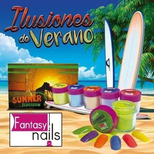 Fantasy Nails Sinaloa - SUMMER Ilussion Acrylic Powder - set of 6 Acrylic Dip System