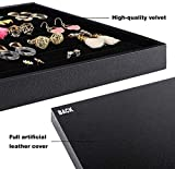 Mebbay Stackable Velvet Jewelry Trays