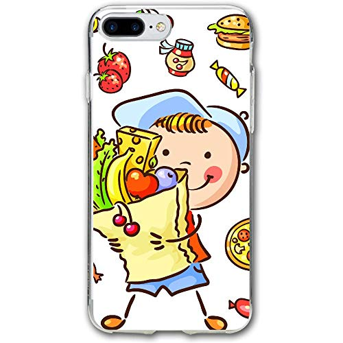 Animated Kids and Snacks Resistant Cover Case Compatible iPhone 7 Plus iPhone 6 Plus 5.5IN ()