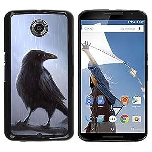Caucho caso de Shell duro de la cubierta de accesorios de protección BY RAYDREAMMM - Motorola NEXUS 6 / X / Moto X Pro - Crown Fairytale Movie Magical Bird Rain Tree