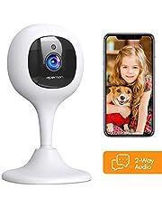 APEMAN 1080P WLAN Kamera, Babyphone mit Kamera und Überwachungskameras mit Nachtsicht Fernüberwachung kompatibel mit IOS/Android