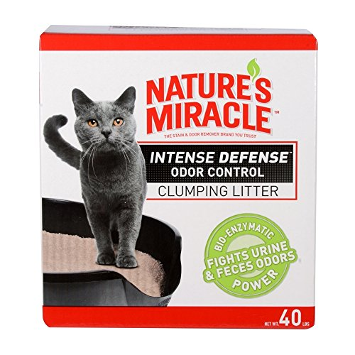Nature's Miracle Intense Defense Odor Control Clumping Litter, 20 lb