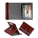 Fastway Rotating 360° Leather Flip Case Cover For HCL Me G1 Tablet 8 GB 10' Brown
