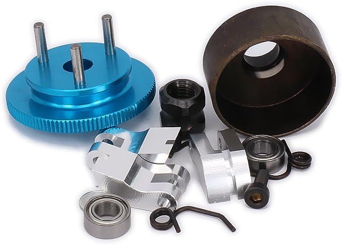 Metal Clutch Bell Flywheel Springs Cone Motor Nut for 1//8 HSP RC Car Truck Kits