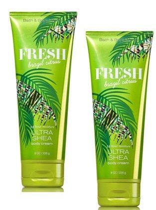 Bath and Body Works Fresh Brazil Citrus Ultra Shea Body Cream 8 Oz. 2 - Cream Pineapple Fresh