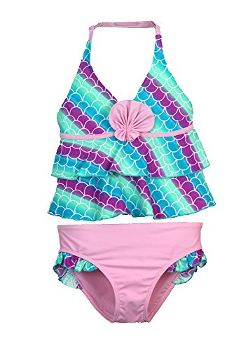 Jump'N Splash Small Girls Mermaid Tankini UV 50 Protection w/Free Goggles
