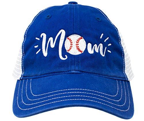 Baseball Mom Hat   Cute Team Color Fan Cap for Women - Royal ()
