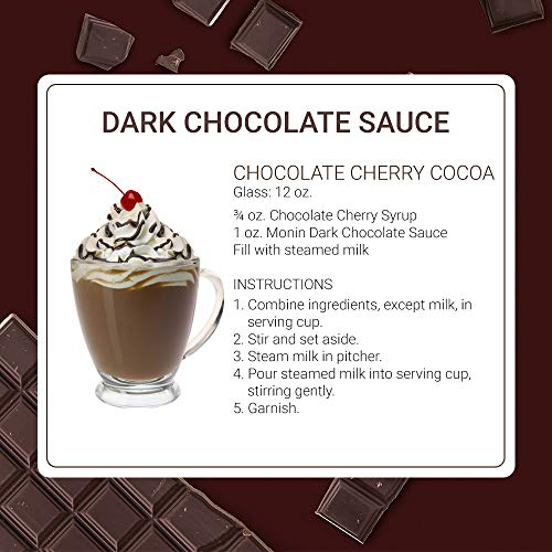 Monin - Gourmet Dark Chocolate Sauce, Velvety and Rich, Great for Desserts, Coffee, and Snacks, Gluten-Free, Vegan, Non-GMO (12 Ounce) by Monin (Image #4)