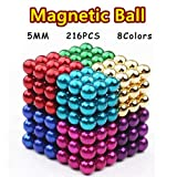 RAINBEAN 8 Colors Upgraded Magnet Sculpture Building Blocks Toys for Intelligence Learning Development and Creative Educational Toy, Office Desk Toy & Stress Relief for Adults