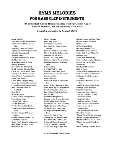 Hymn Melodies for Bass Clef Instruments