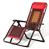 Folding Recliner Square Tube Mahjong Block Bamboo Seat Recliner Chair Lunch Break Chair Office Lounge Chair Siesta Chair Bamboo Lounge Chair Summer Breathable