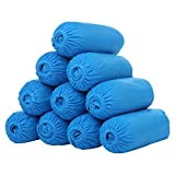 CHRISLZ Disposable Overshoes Disposable Anti-skid Durable One-off Shoes Cover Non Woven Fabric Shoe Covers 100 Pieces (BLUE)