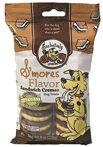 Exclusively Dog Sandwich Cremes-S'Mores Flavor, 8-Ounce Package - Exclusively Pet Animal