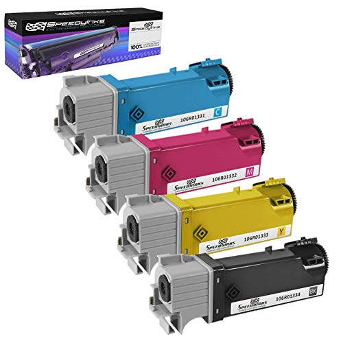 Speedy Inks Compatible Toner Cartridge Replacement for Xerox Phaser 6125 / 6125N High Yield (1 Black, 1 Cyan, 1 Magenta, 1 Yellow, 4-Pack)
