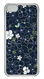 Personalized iPhone 5c Cases - Unique Cool Design Black Line Flowers by lolosakes