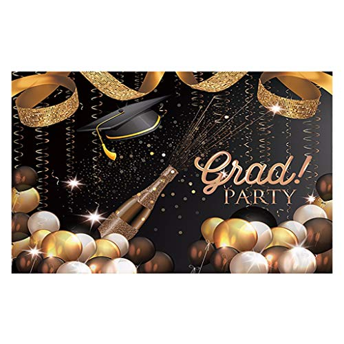 XQXCL Graduation Party Decor Graduation Backdrops Vinyl Wall 5x3FT Digital Background Photography Studio Home Decoration