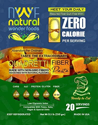 Zero Calorie Quadretti Fiber Pasta