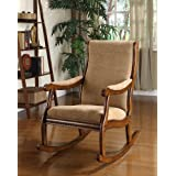 Furniture of America Enitial Lab Betty Rocking Chair, Antique Oak