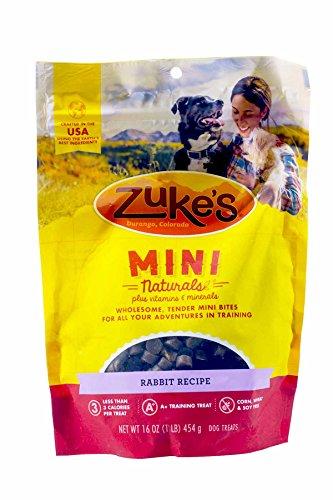 Zuke s Mini Naturals Dog Treats, Wild Rabbit, 3 Pounds Pack of 3