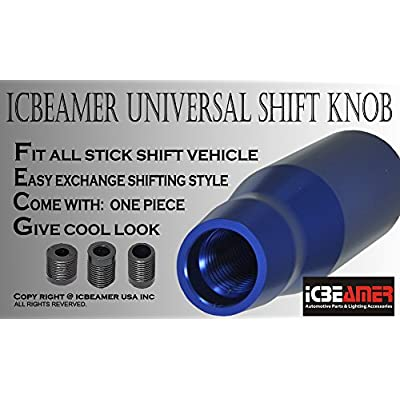 ICBEAMER Manual Transmission Stick Shift Vehicle Car Universal Shift KNOB [Color: Blue]: Automotive