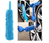 Car Cleaning Brush Flexible Long Mircofibre Noodle Chenille Alloy Wheel Cleaner Car Wash Brush by ShopIdea