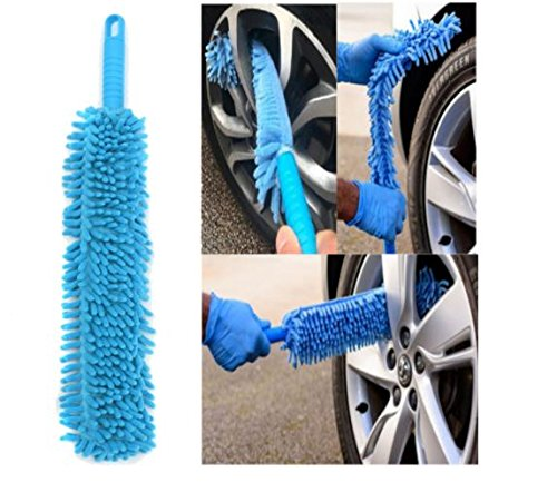 Car Cleaning Brush Flexible Long Mircofibre Noodle Chenille Alloy Wheel Cleaner Car Wash Brush by - Remove Scratches Deep Glass From