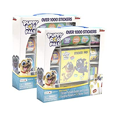 Puppy Dog Pals Sticker Activity Value Bundle - 2 Pack Box Set: Office Products