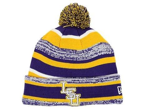 e61c8ab30 Amazon.com : New Era LSU Tigers Tide Players & Coaches Sideline Knit ...