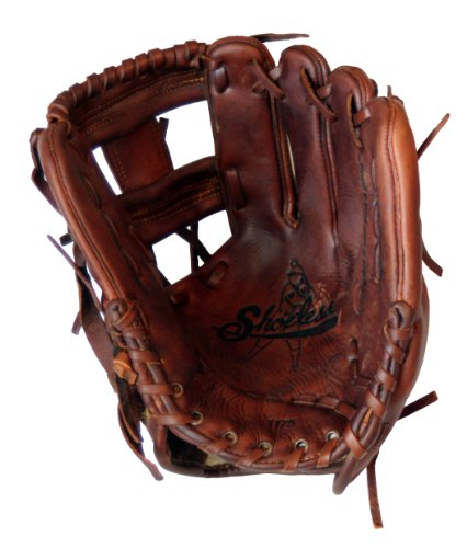 Old Time Baseball Mitt (Shoeless Joe Gloves I Web Brown Baseball Infielders Gloves, Right Handed, 11 3/4-Inch)