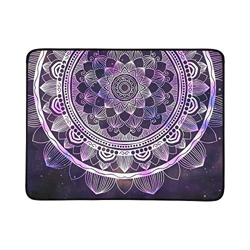 - GIRLOS Abstract Ancient Geometric Star Field Colorful Stock Illustration Pattern Portable and Foldable Blanket Mat 60x78 Inch Handy Mat for Camping Picnic Beach Indoor Outdoor Travel
