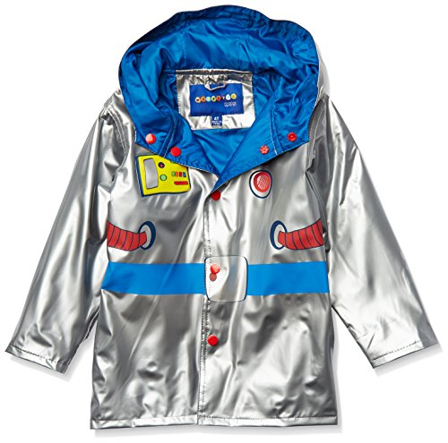 Wippette (Raincoats Toddler Boys' Printed, Astronaut Silver-Shiny, 2T