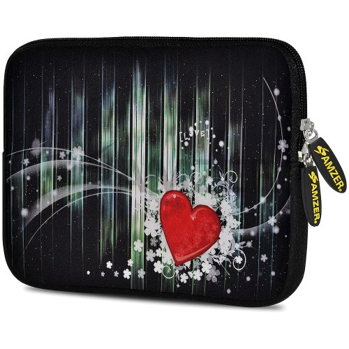 Amzer 7.75-Inch Designer Neoprene Sleeve Case Cover Pouch fo