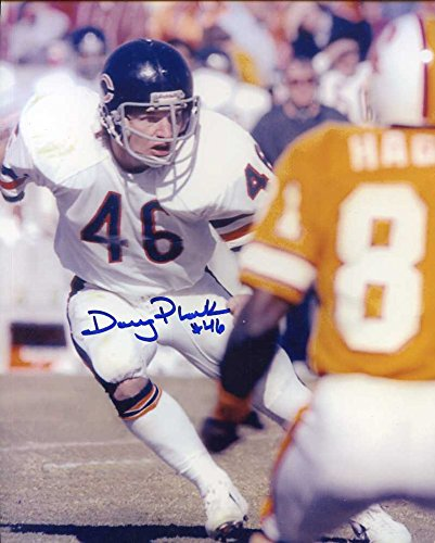 Doug Plank Autographed/ Original Signed 8x10 Action-photo w/ the Chicago Bears (1975-1982)