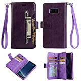 Businda Cover for Galaxy S9, Hybrid PU Leather Wallet Case Protective Phone Cover with Card Slots&Hidden Pocket for Women/Men