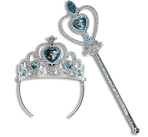 Disney Frozen and Princess Crown Tiara Set (Frozen - Wand & Tiara Set)