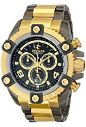 Invicta Men's 13016 Arsenal Black and Gold Two Tone Stainless Chronograph Watch