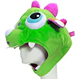 XCOSER® Cute LOL Gnar Dinosaur Hats Plush Toys Props for Haloween Costume