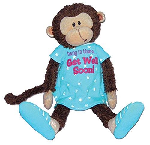 Mendin Monkey Feel Better Get Well Soon Plush Stuffed Animal