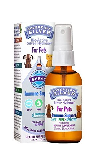 Bio-Active Silver Hydrosol for Pets Fine Mist Sovereign Silver Natural Immunogenics 2 oz Spray