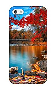 Durable Protector Case Cover With Fall Foliage Hot Design For Iphone 5/5s