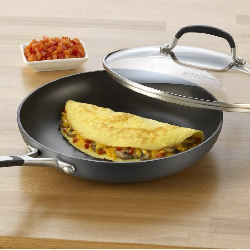 Simply Calphalon Nonstick 10-Inch. Omelette Pan with Cover