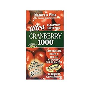 Nature's Plus - Ultra Cranberry 1000mg Sustained Release Tablets, 90 Count