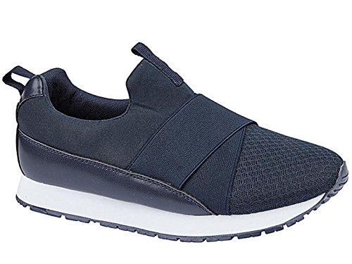 Foster Footwear - Botines chica Unisex, para niños mujer para chico Navy/Mesh