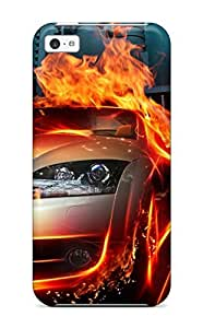 Case Cover Car In Fire City Hq/ Fashionable Case For Iphone 5c