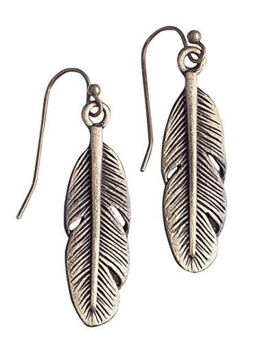 Bohemia Feather Antique Silver Earring