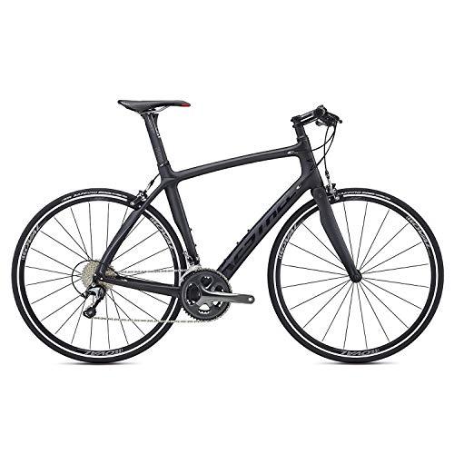 Kestrel Ems Pro - Kestrel RT-1000 Flat Bar Shimano Tiagra Fitness Road Bike, X-Large/59 cm, Satin Carbon/Gloss Black